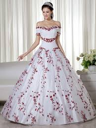 aliexpress com buy 2017 real white and red ball gown colorful