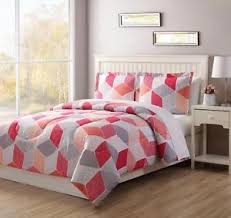 geometric pattern bedding colormate 3pc comforter set geometric pattern bedding soft cozy ebay