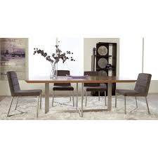 Walnut Dining Room Table Euro Style Tosca 5 Piece Walnut Dining Table Set Tosca Grey