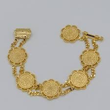 gold plated bracelet charms images Online shop l 20cm coin bracelet charm for women 18k gold plated jpg