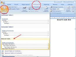 Membuat Daftar Isi Table Of Contents Di Word 2007   caracekterupdate com wp content uploads 2016 05 ca