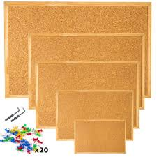 pin board cork pin message notice board wooden frame office memo school