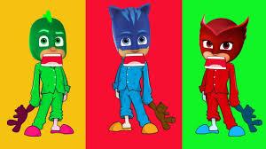 pj masks wrong heads pyjamas pj masks cartoon finger family song