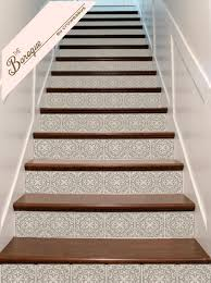 staircase wall decor ornate vinyl tile decals for carpeted stairs decals for