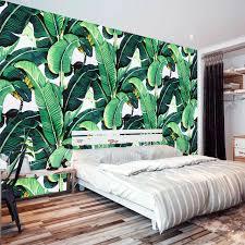european style retro tropical rain forest plant banana leaf photo