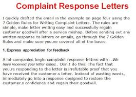 awesome collection of answering a complaint letter template in