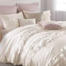 White Ruffle Duvet Cover Queen Bedroom Falbala Ruffle White Duvet Cover Queen With Tufted