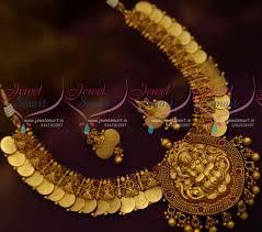 nl11137 temple coin jewellery ornaments kasulaperu gold design