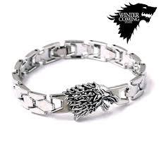 family bracelets of thrones stark family bracelets silver wolf braclet