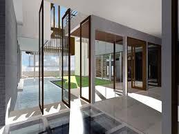 modern tropical courtyard house design scheme home interior