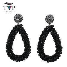 black drop earrings women earrings dangle drop earring for women black white