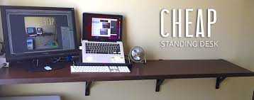 Diy Stand Up Desk Cheap Standing Desk Diy Solution For Work Whirl