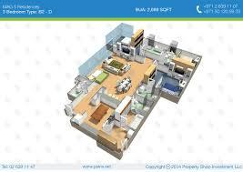 4 Bedroom Apartment Floor Plans Buy Apartment 3 Bedrooms Mag 5 Residences Al Reem Island Ap35822