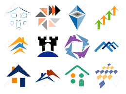 building and home themed vector logo design elements royalty free