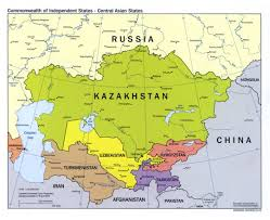 Political Map Asia maps of central asia central asia maps collection of detailed