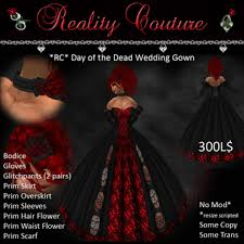 day of the dead wedding second marketplace rc day of the dead wedding dress boxed