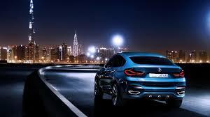 full hd wallpaper bmw x4 sedan speed night burj al arab dubai
