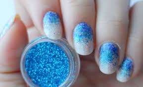 party nails full glitter ombre nail art seasonails