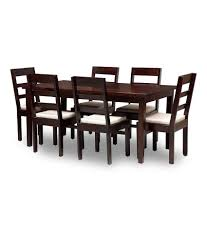 Solid Wood Furniture Online India Solid Wood 6 Seater Dining Set Buy Solid Wood 6 Seater Dining