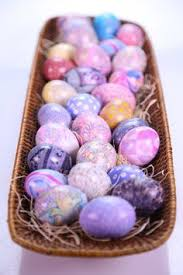 Decorating Easter Eggs With Silk by