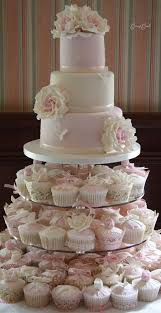 wedding cake and cupcake ideas cupcake wedding cake best 25 wedding cakes with cupcakes ideas on
