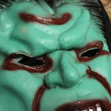 ghost face masks with hair latex mask horrible mask halloween
