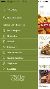 application recettes de cuisine télécharger 750 grammes 77 000 recettes de cuisine sur iphone