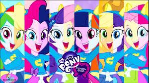 pony equestria girls color swap mane 6 rainbow dash