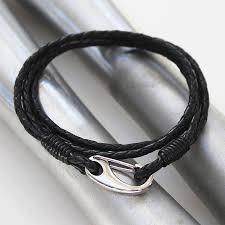 leather wrap bracelet men images Men 39 s double wrap leather bracelet by zamsoe jpg