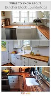 Kitchen Countertops And Backsplash by What To Know About Butcher Block Countertops Farmhouse Kitchens