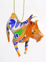 zebra tin sculpture unpainted tin ornaments