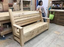 garden bench with storage u2013 king u0027s fine woodworking inc
