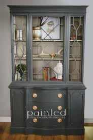 linen chalk paint kitchen cabinets china cabinet painted in sloan graphite and linen