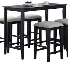 rectangle high top table black counter height kitchen table set monarch specialties 1919