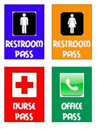 bathroom pass ideas printable bathroom passes zoro blaszczak co