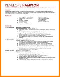Warehouse Labourer Resume 100 General Laborer Resume Sample Resume Warehouse Laborer