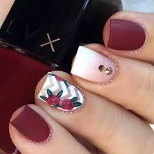 chic nails mixed nailart badgirlnails matte burgundy red