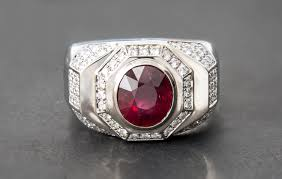 mens rings ruby images Mens ring oval cut ruby 14kt white gold custom jewelry jpg