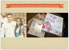 salman khan arpita khan wedding invitations 123weddingcards