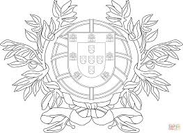 coat of arms of portugal coloring page free printable coloring pages