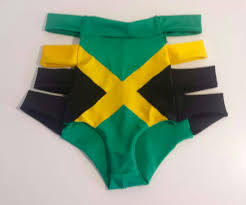Colors Of Jamaican Flag Jamaica Flag Shorts Jamaican Flag Cutout Hotpants Carnival