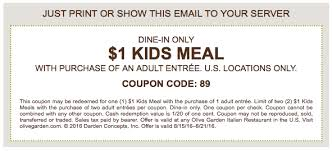 printable olive garden coupons olive garden kids meals for only 1 with printable coupon