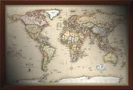 map usa framed framed maps wood and aluminum frames for wall maps
