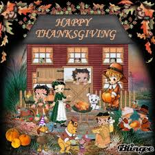 betty boop friends thanksgiving picture 99067039 blingee