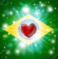 Blank Brazil Flag Love Brazil Flag Heart Background U2014 Stock Vector Krisdog 20028677