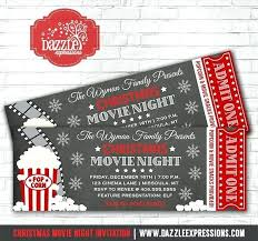 movie ticket invitations 30439 elcolumpio co