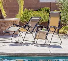 Zero Gravity Patio Chairs by Zero Gravity Chair Set Of 2 Headrest Patio Outdoor Camping Folding