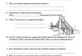 bill nye balance video worksheet balanced and unbalanced forces