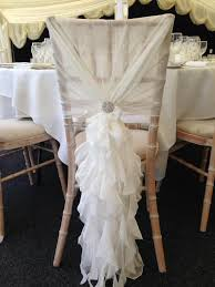 chiffon chair sash 25 best chiffon ruffle chair cover hoods and wedding ideas for