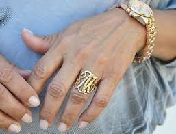 monogram ring gold women s monogram script letter initial ring gold silver ebay